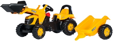 Rolly Toys Kid JCB Tractor With Frontloader & Trailer 023837