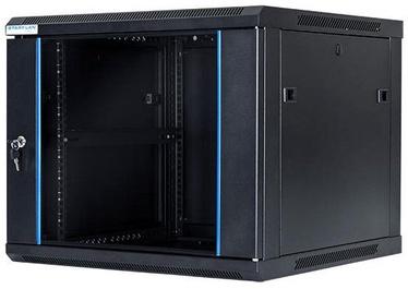 Digitalbox START.LAN Wall Cabinet 19'' 9U/600x600mm Glass Black