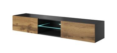 ТВ стол Halmar Livo RTV-180W, черный/дубовый, 1800x300x400 мм