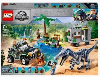 Konstruktors LEGO Jurassic World Sastapšanās ar barioniksu: dārgumu meklēšana 75935, 434 gab.