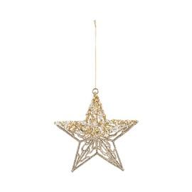 Ziemassvētku eglītes rotaļlieta Christmas Touch MC18B-17187-2 Gold, 120 mm, 1 gab.