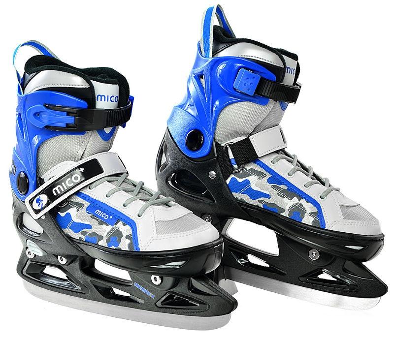 Skrituļslidas Mico Plus Rider II 2in1 White/Blue, 37-40