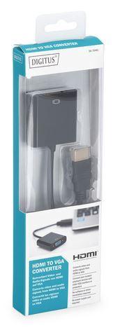 Digitus Adapter HDMI A / 3.5mm /  VGA