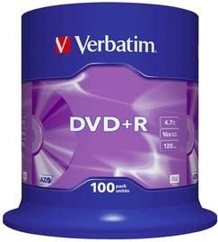 Verbatim DVD+R 16X 4.7GB 100P Matte Silver AZO Cake Box