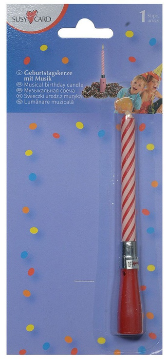 Susy Card Musical Candle