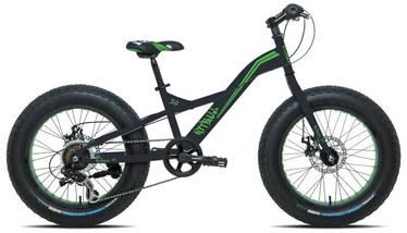 """Velosipēds Esperia Fat Bike 9020, melna/zaļa, 20"""", 20"""""""
