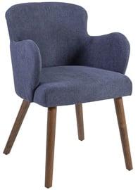 Atzveltnes krēsls Home4you Eleanor Dark Blue, 50x76x59 cm