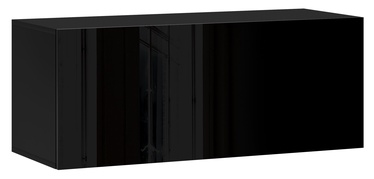 Vivaldi Meble Vivo 01 Wall Shelf With LED Black/Black Gloss