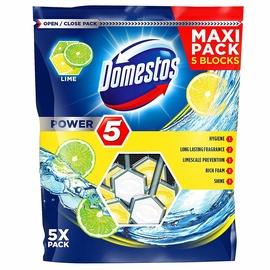 Подвесной блок для унитаза Domestos Lime Toilet Block 5pcs
