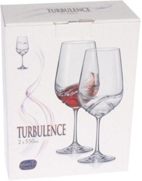 Vīna glāze Bohemia Crystalex Turbulence, 0.55 l, 2 gab.