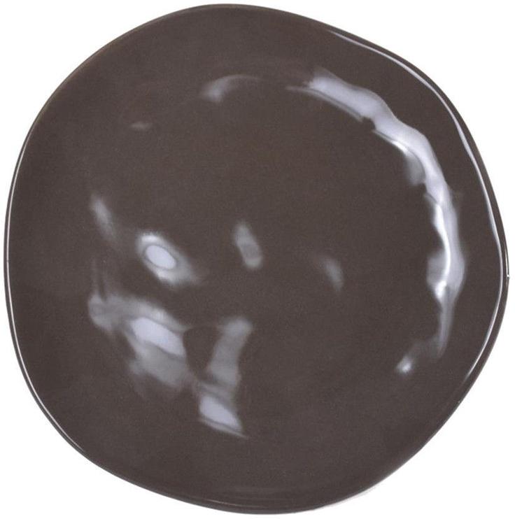 Bradley Organic Ceramic Dessert Plate 20cm Brown 12pcs