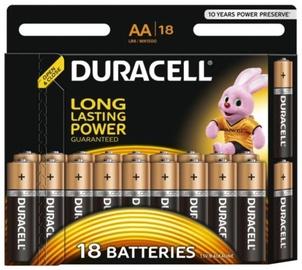 Baterijas Duracell Alkaline AA 18pcs
