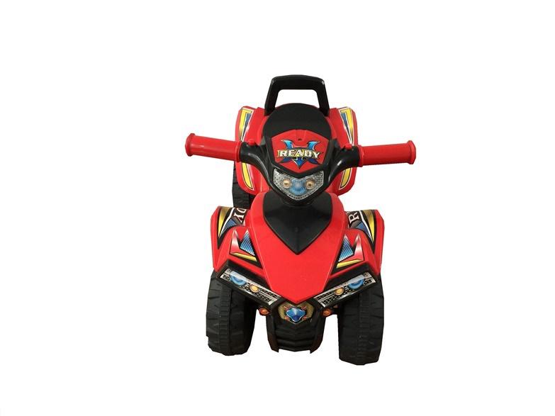 Bērnu skrejritenis-kvadracikls, sarkans