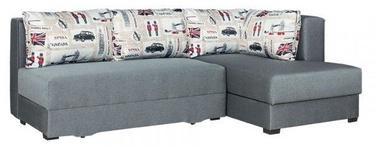 Stūra dīvāns Bodzio Judyta Grey/London 1, labais, 225 x 155 x 77 cm