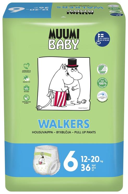 Autiņbiksītes Muumi Baby Walkers 6 izmērs, 36gab.