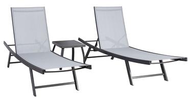 Комплект уличной мебели Home4you Ario 13234, серый, 2 места