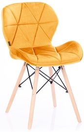 Homede Silla Chairs Velvet 4pcs Yellow