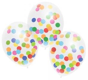 Balons Herlitz Confetti, balta, 3 gab.