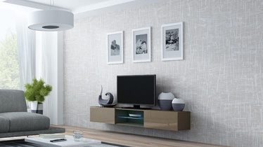 Cama Meble Vigo Glass TV Stand Latte/Latte Gloss