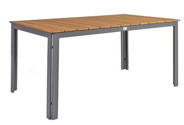 Dārza galds Home4you Greenwood Dark Grey, 150 x 90 x 73 cm