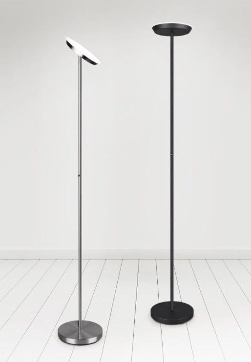 Trio Ponda matēta tērauda krāsa, iebūvēts LED gaismeklis, 20W, 2100lm, 3000K, trīspakāpju slēdža aptumšošanas funkcija