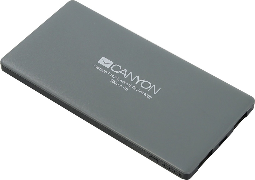 Ārējs akumulators Canyon CNS-TPBP5DG Dark Grey, 5000 mAh