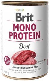 Влажный корм для собак Brit Mono Protein, 0.4 кг