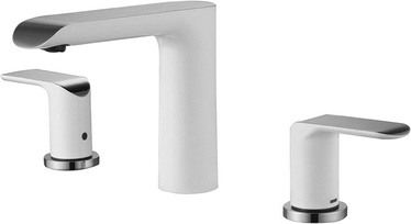 Izlietņu jaucējkrāns Vento Ravena Built-In Ceramic Sink Faucet White/Chrome
