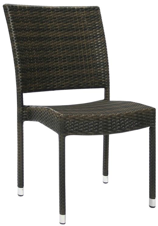 Home4You Chair Wicker 3 Dark Brown