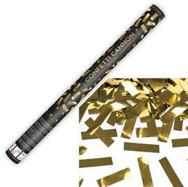 Konfete Party&Deco Confetti Cannon Gold Stripes 30cm