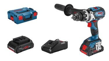 Skrūvgrieznis Bosch GSB 18V-110 C + L-Boxx + 2x4Ah ProCore Batteries