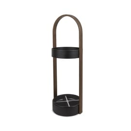 Umbra Hub Umbrella Stand Black/Walnut