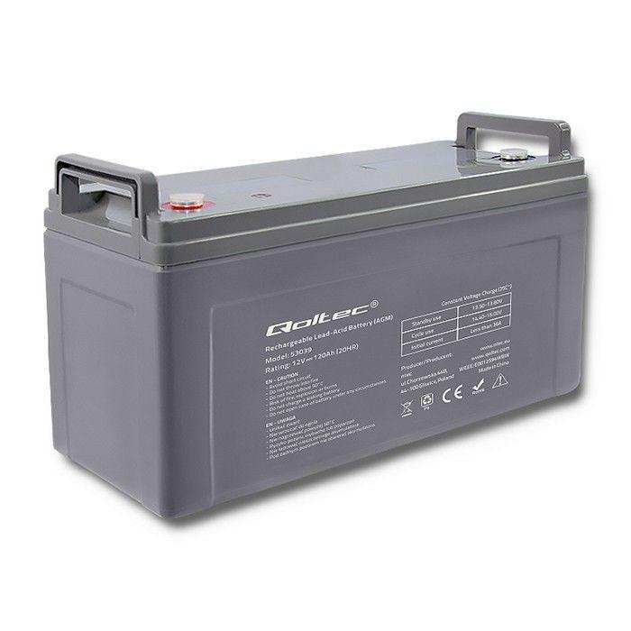 UPS aккумулятор Qoltec AGM Battery 12V 120Ah Max 1440A