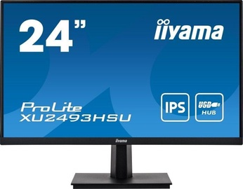 "Monitors Iiyama PROLITE XU2493HSU-B1, 24"", 4 ms"