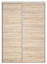 Black Red White Wardrobe Front Nadir 170-180 Sonoma Oak