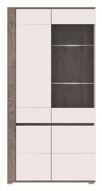 Vitrīna WIPMEB Ares AS10 Enderein Oak/White High Gloss, 100x40x196 cm