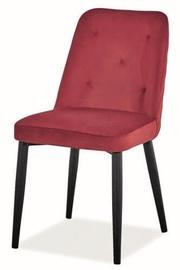 Ēdamistabas krēsls Signal Meble Duran Velvet Bordeaux, 1 gab.