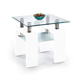 Kafijas galdiņš Halmar Diana H Kwadrat Lacquered White, 600x600x550 mm
