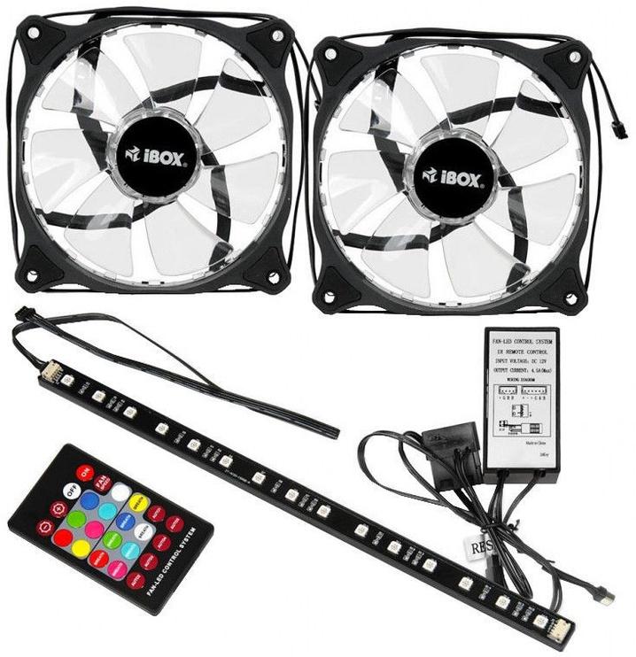 iBOX 2xRGB 12 cm Fan Set