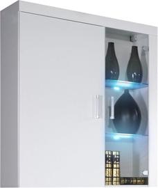 Шкаф-витрина Cama Meble Samba 4, белый, 90x35x111 см