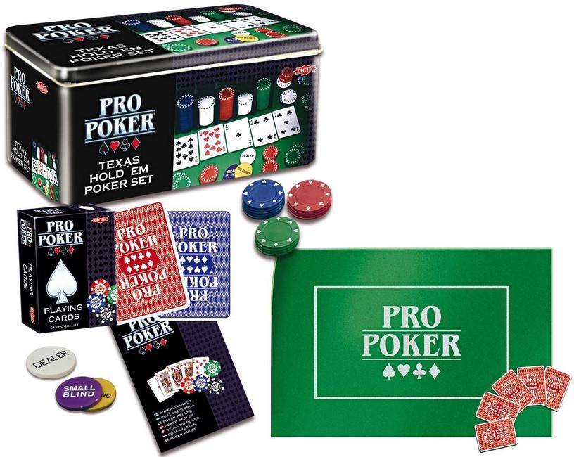 Galda spēle Tactic ProPoker Texas Hold'em Set - Tin