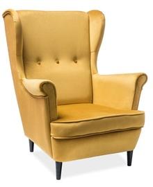 Atzveltnes krēsls Signal Meble Lord Bluvel 52 Yellow, 75x56x101 cm