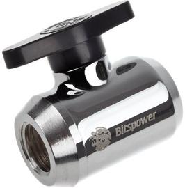 BitsPower Stop Valve WAZU-233 Shiny Silver
