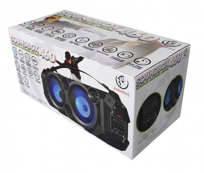Bezvadu skaļrunis Rebeltec SoundBox460, melna, 40 W