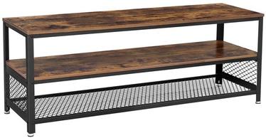 ТВ стол Songmics, коричневый/черный, 1400x515x400 мм