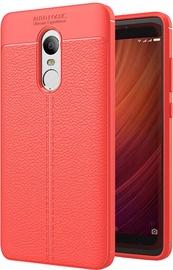 Hurtel Litchi Pattern Back Case For Xiaomi Redmi Note 4/4X Red
