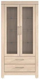 Black Red White Gent Glass Door Cabinet 98x201x42cm Oak