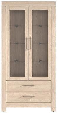 Black Red White Gent Glass Door Cabinet 98x201x42cm Oak