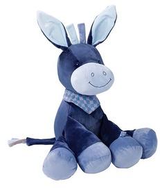 Mīkstā rotaļlieta Nattou Cuddly Animal Alex Donkey 321020, zila, 75 cm