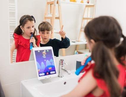 Электрическая зубная щетка Playbrush Smart Sonic, синий/красный